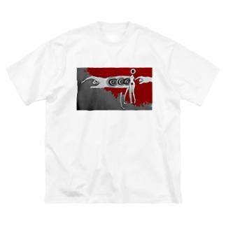 内服薬の乱用はキケンです Big silhouette T-shirts