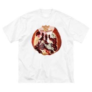 Hiwaii/魅惑のザクロ Big silhouette T-shirts