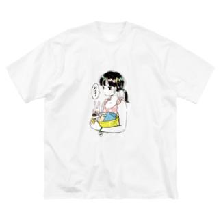 銭湯女子・Tシャツ Big silhouette T-shirts