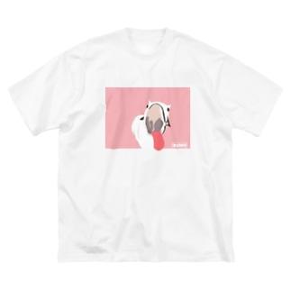 ブーモ👅ピンク Big silhouette T-shirts