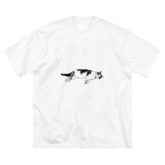 ネコチヤン2 Big silhouette T-shirts