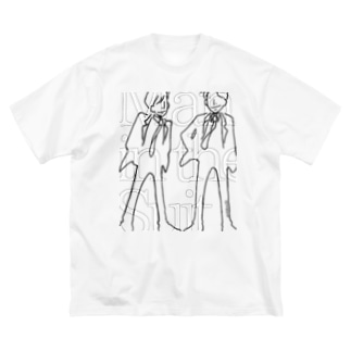 Man in the Suit cp3-2w Big silhouette T-shirts