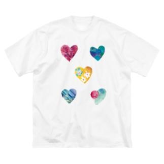 ハート2020 Big silhouette T-shirts