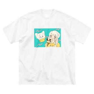 にゃいす と 推しガール Big silhouette T-shirts
