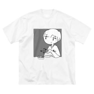 副流煙 Big silhouette T-shirts