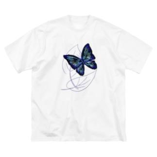 黒蝶 Big silhouette T-shirts