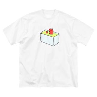 ぽかぽかおふろにはいるえび Big silhouette T-shirts