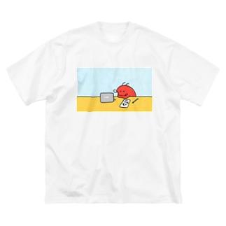 おしごとえび寝 Big silhouette T-shirts