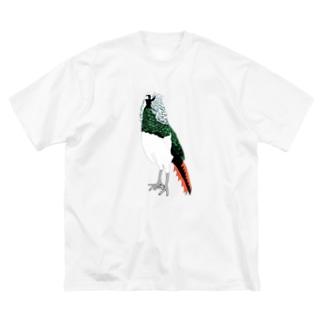 とり Big silhouette T-shirts