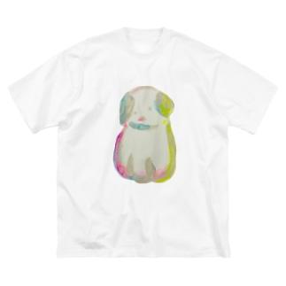 ゆるいいぬ Big silhouette T-shirts