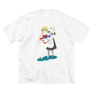 奥様は楽園の覇者 Big silhouette T-shirts