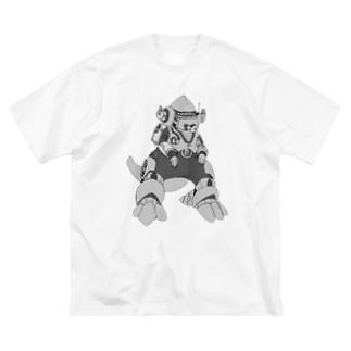 M=らくがき-かいじゅう‐DA Big silhouette T-shirts