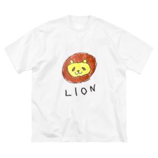 ライオンのラインくん Big silhouette T-shirts