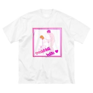 後ろ Big silhouette T-shirts