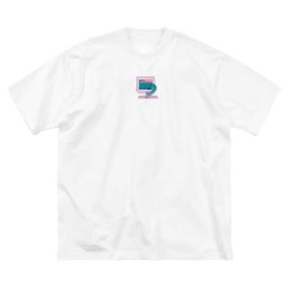 テクノロジーザウルス Big silhouette T-shirts
