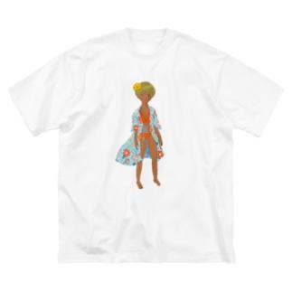 エンドレスサマー フィクション01 Big silhouette T-shirts