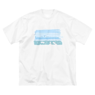 吾妻の雪うさぎ Big silhouette T-shirts