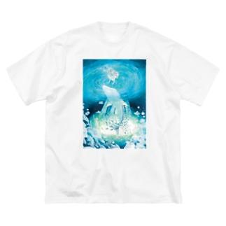 優しい深淵の瞳 Big silhouette T-shirts