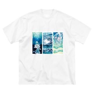 海と少女シリーズ Big silhouette T-shirts