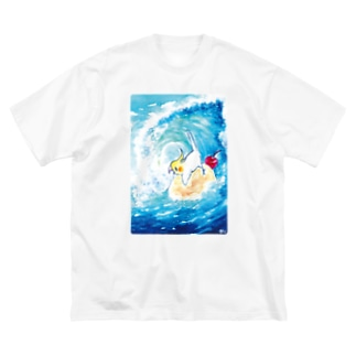 クリームソーダの波 Big silhouette T-shirts