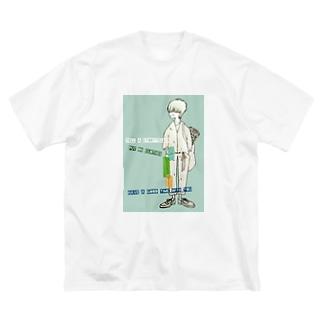 話をしよう💙 Big silhouette T-shirts