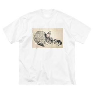 あのね…(もずく&もっぷ) Big silhouette T-shirts