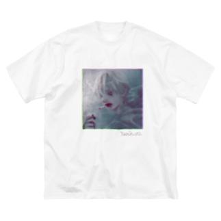 やにくら~ Big silhouette T-shirts