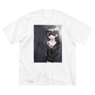 夜中のコンビニ Big silhouette T-shirts