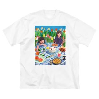 ピクニック2 Big silhouette T-shirts
