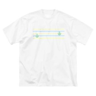 ジェラートラテアート~Landscape~ /パイナップル×ブルーハワイ Big silhouette T-shirts