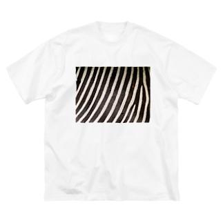 シマウマ Big silhouette T-shirts