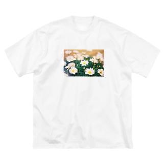 記憶の中のキク科のお花 Big silhouette T-shirts