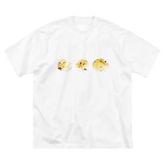 キツネ眠るTシャツ Big silhouette T-shirts