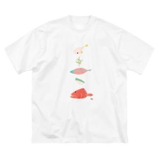 きりみ 沖縄 Big silhouette T-shirts