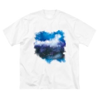 星が降ってくる Big Silhouette T-Shirt