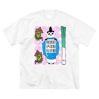 社務所御祈祷受付用 キューティーピンク Big silhouette T-shirts