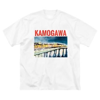 KAMOGAWA  Big silhouette T-shirts