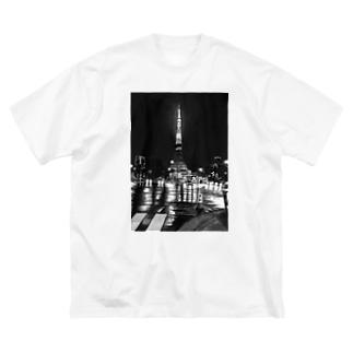 東京タワー×カラーコーン  mono Big silhouette T-shirts