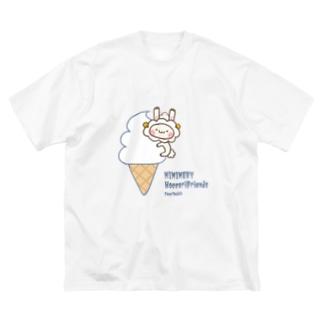 ミミメリーとソフトクリーム Big silhouette T-shirts