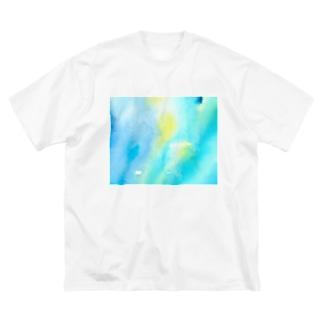 ギヤマンハナクラゲ*white Big silhouette T-shirts