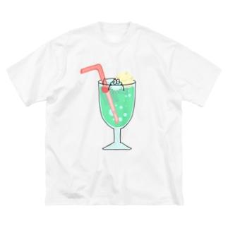 クリームソーダビックシルエットT Big silhouette T-shirts