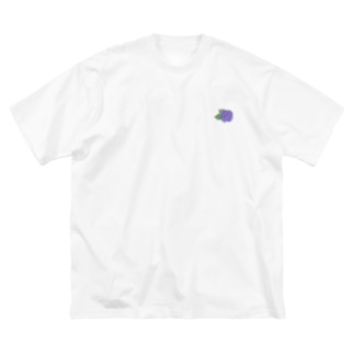 アジサイ Big silhouette T-shirts