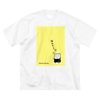 司書の本田さん Big silhouette T-shirts