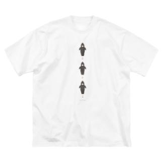 わたしたち!アイドルサメさん Big silhouette T-shirts