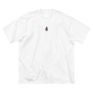 ヒヒィ〜ん馬 Big silhouette T-shirts