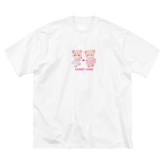 キャンディランド(大きめ) Big silhouette T-shirts