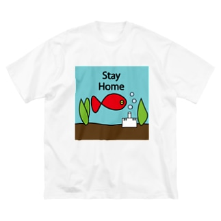 stay home Big silhouette T-shirts