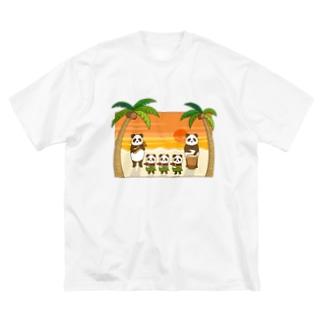 フラパンダ Big silhouette T-shirts