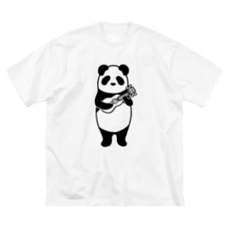 ウクレレパンダ Big silhouette T-shirts