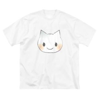ねこちゃん Big silhouette T-shirts
